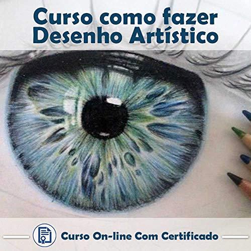 Curso online em videoaula de como fazer Desenho artístico com Certificado + 2 brindes