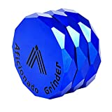 Aficionado Diamond Herb Grinder 6,3 cm 4 piezas aluminio trituradora...