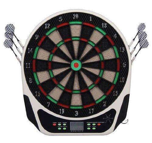 Homcom Elektronische Dartscheibe Dartboard Dartscheibe als Geschenk inkl. Pfeilen Flights und Spitzen