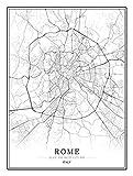 Bild auf Leinwand Italien Rom Stadtkarte Bilder