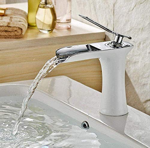 Grifos de cocina Grifos de baño Grifos mezcladores Grifos Grifos de cocina Grifos de lavabo de baño Grifos de cascada Superficie del grifo Cromado Manija única Instalación de 1 orificio Grifo de lavab