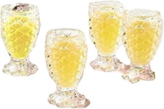 Twos Company Pineapple Party Set of 4 Shot Glasses in Gift Box - Glass