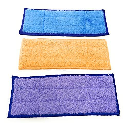 Lingettes humides, sèches et humides, en microfibre, compatibles avec iRobot Braava Jet 240, 241, 250, lavables et réutilisables.