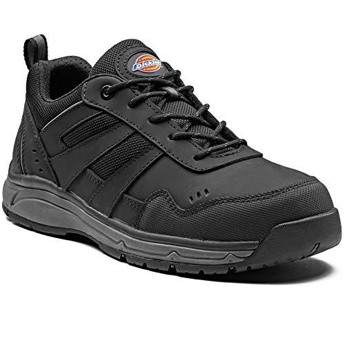 Dickies Herren Emerson Safety Water Resistant Workwear Toe Cap Trainers, Schwarz, 41 EU