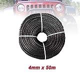 Eslinga 4 mm * 50m sintético Torno de Cable línea de Fibra Cuerda de Remolque Teleférico Accesorios for 4X4 / ATV/UTV / 4WD / Off-Road Portabicicletas (Color Name : Gray)