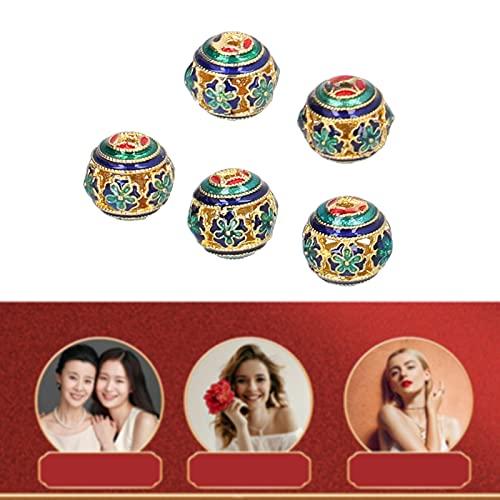 Cuentas para hacer pulseras, cuentas de joyería Cuentas redondas huecas de cobre puro para pulseras para pendientes para manualidades para artículos de joyería
