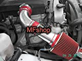 Performance 2PC Design Cold Air Intake Filter System For 2007 2008 2009 Hummer H3 With 3.7L L5 Engine (Red Filter & Accessories)