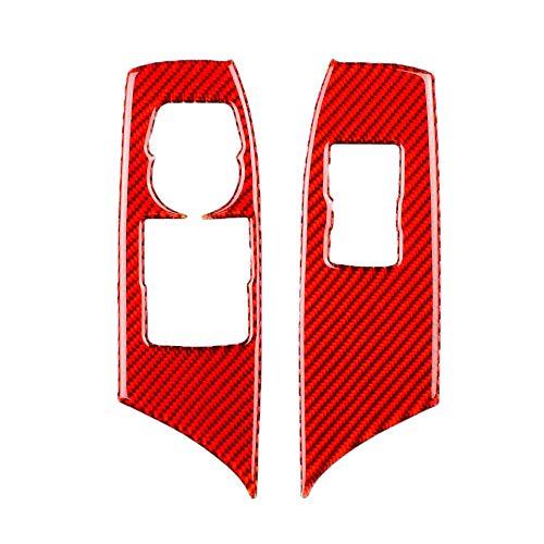Nrpfell Rote Kohlefaser Fenster Heber Panel Aufkleber Dekoration für Camaro 2016-2019