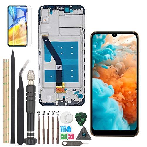 Pantalla de Repuesto para Huawei Y6 2019/ Y6 Pro /Y6 Prime /Enjoy 9e LCD Display Digitalizador Táctil con Herramientas (Negro + Marco)