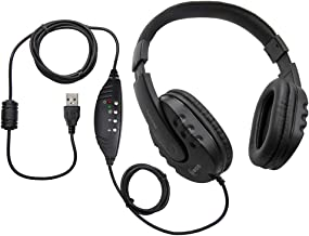 ECS WordMaster USB Transcription Headset – Overhead, Around The Ears