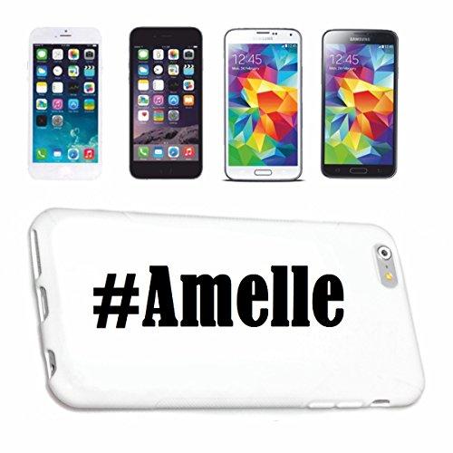 Reifen-Markt Etui pour téléphone Portable Compatible pour iPhone 7 Hashtag #Amelle - l'affaire du téléphone n'est Pas de Apple Produit ou Vendu