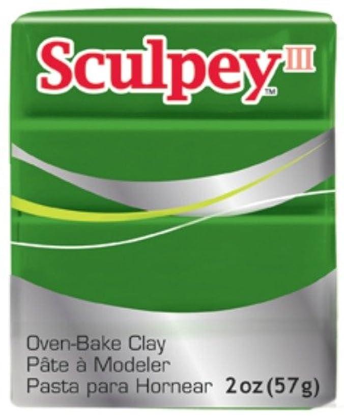 Sculpey III Polymer Clay 2 Ounces-Leaf Green