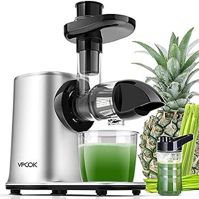 Slow Masticating Juicer Slow Juicer Cold Press Juicer Masticating Juicer Machines Auger/Celery/Vegetable/Ginger Juicer Machines Easy to Clean