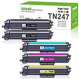 Aztech - Cartucho de tóner compatible con Brother TN-243CMYK TN247 TN-247BK TN243 para Brother MFC-L3750CDW MFC-L3770CDW HL-L3210CW HL-L3230CDW MFC-L3710CW DCP-L3550CDW MFC-L3730CDN W Toner