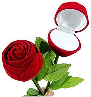 Isuper Exquisita Rose Caja del Anillo de Compromiso romántico de la Boda de cumpleaños Joyas Caja de Regalo Regalo para su casa