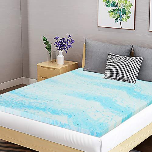Fangflower 2 Inch Memory Foam Mattress Topper Queen Size, Supper Soft, Gel Infused