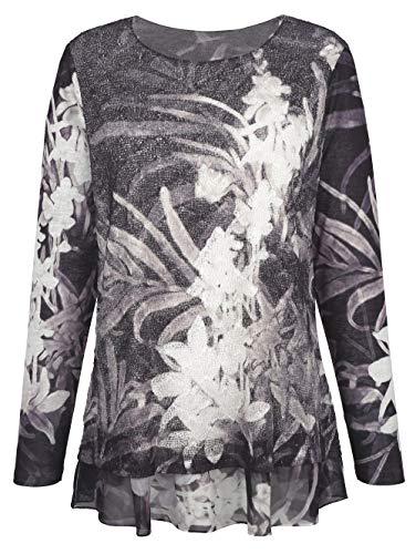 Jessica Graaf Damen Shirt Anthrazit 44 Kunstfaser