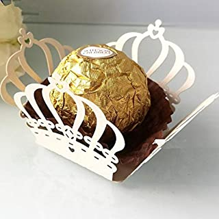 Gift Bags & Wrapping Supplies - 50pcs Hollow Chocolate Wrapper Novel Crown Flowers Taffy Packing Box Birthday Party Suppli...