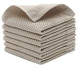 JNRWJM 100% Cotton Dish Cloths Dish Towel, Kitchen Washcloths, Dish Rags- 6 pcs, Dish Cloths for Washing Dishes,...