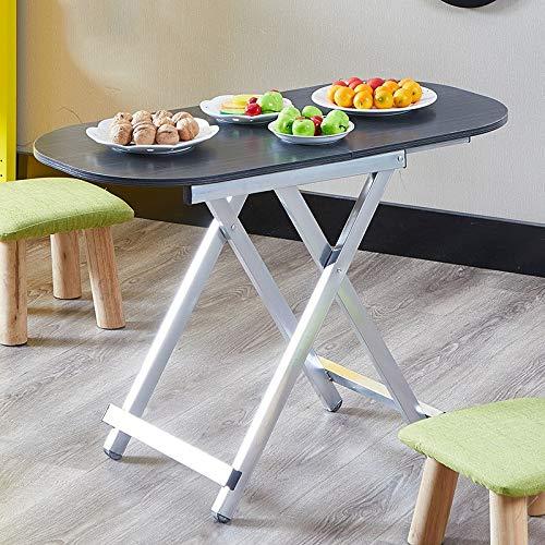 LQRYJDZ Zusammenklappbarer ovaler Frühstückstisch for Kaffeesnacks for Vier Personen, kompakter, Leichter, zusammenklappbarer, tragbarer Camping-Reise-Picknicktisch for den Außenbereich, 29,5/21,6 Z