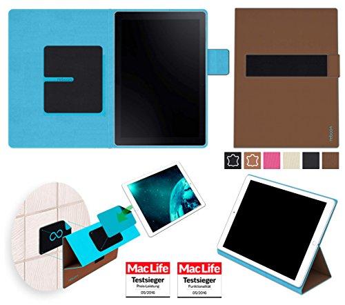 reboon Hülle für Samsung Galaxy Book 10.6 (LTE) Tasche Cover Hülle Bumper   in Braun   Testsieger