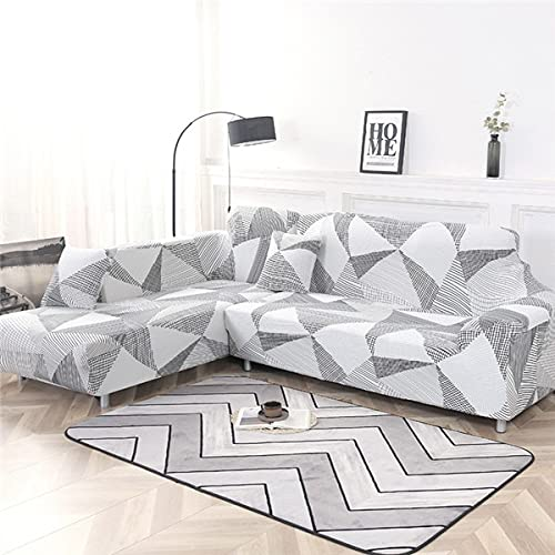 WXQY Geometrischer elastischer Sofabezug Stretch-Couchbezug Schonbezüge für L-förmige Eck-Chaiselongue-Sofa-Couchbezug A7 1 Sitzer