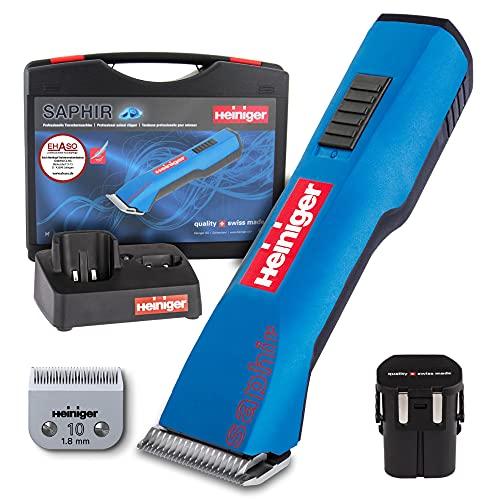HEINIGER Saphir Haarschneidemaschine, kabellos, Blau