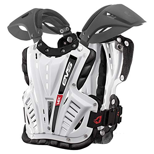 EVS Sports Men's Revo 4 Roost Diflector (White, Large) - VEX-W-L