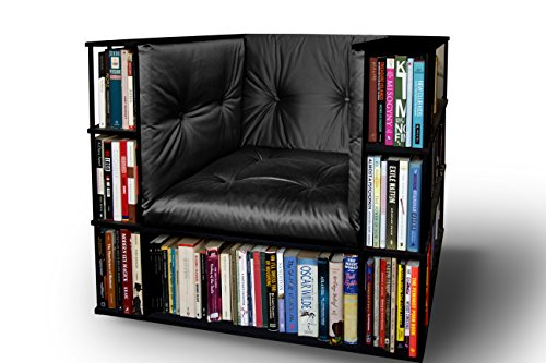 Gentleman's Luxury Library Bookcase Chair in Black - Made to Order