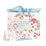 with Love Brand Born to Stand Out Medium Inspirational Gift Bag with Tissue Paper and Card