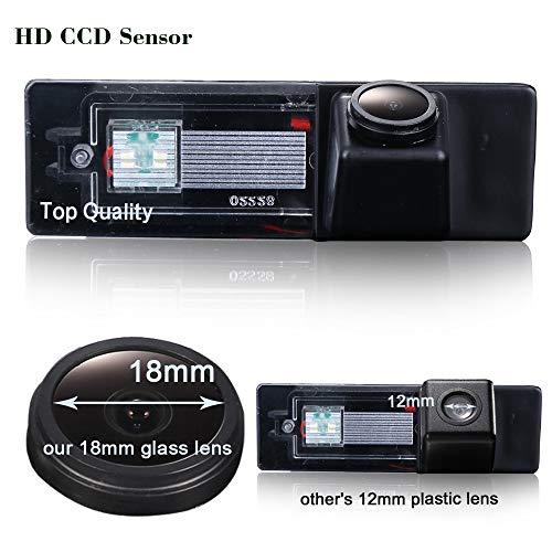 Hdmeu HD color CCD impermeabile auto telecamera posteriore di backup, angolo di visione 170 ° telecamera di retromarcia per BMW serie 1 120i/E81/E87/F20/135I/640I/116I/Z4 E89 BMW Mini Clubman/Cooper