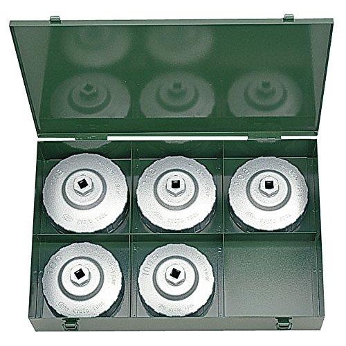 KTC ( 京都機械工具 ) 大径用カップ型オイルフィルタレンチセット 5個組 AVSA5