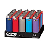 BIC Classic Lighter, Assorted Colors, 50-Count Tray, Up to 2x the Lights...