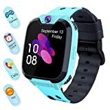 Smart Watch for Kids Boys Girls - Touch Screen Game Smartwatch with Call SOS Camera 7 Games Alarm Clock Music Player Record for Children Birthday Gifts 3-10 Kids Phone Watch with 1GB SD Card (Blue)