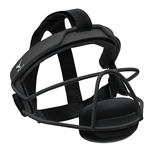Mizuno Fielders Mask, Black, Mizuno Wire Fastpitch Softball Fielder'S Mask L/Xl