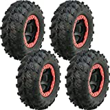 Full set of Interco Swamp Lite 25x8-12 and 25x10-12 ATV Tires (4)