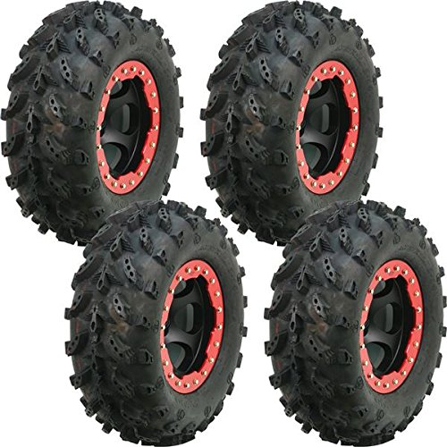Full set of Interco Swamp Lite 25x8-12 and 25x10-12 ATV Tires (4)