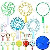 Burbujas de Jabon Niños 28pcs, Kit de Varita de Burbujas,Varita de Burbujas Creativo,Bubbles Maker,Conjunto De Burbujas De Jabón,Maquina de Burbujas,Juego De Burbujas Gigantes