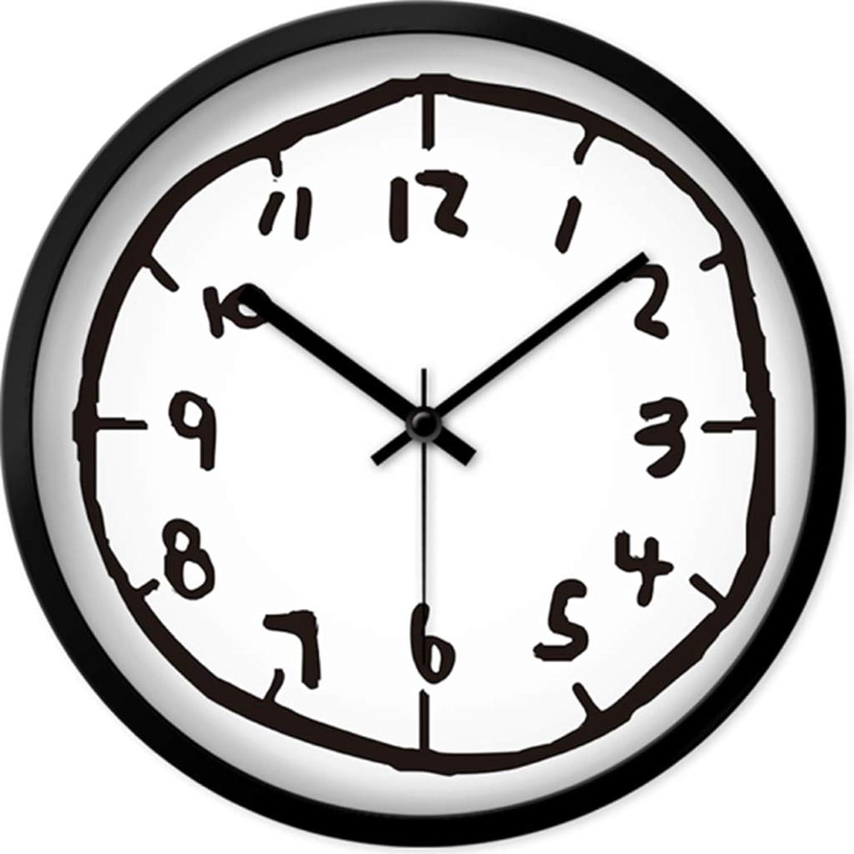 ahorre 60% de descuento WMY  Reloj de Parojo Reloj de de de Parojo, sin tictac, con Pilas, Sala de Estar, decoración, Dormitorio silencioso, Creativo, Graffiti, Arte, Cuarzo Decoracion Parojo (Color   A, Talla   12in)  el precio más bajo