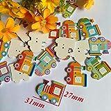 JYYC 30pcs gemischter Stil Kinderknopf DIY handgemachte dekorative Schnalle Cartoon Holzknöpfe, C.