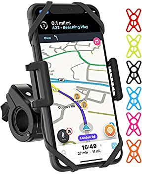 TruActive Premium Bike & Motorcycle Phone Mount Bike Phone Mount Holder Cycling GPS Units 6 Colors Included Universal Bike Phone Holder Bicycle Cell Phone Holder for Bike ATV