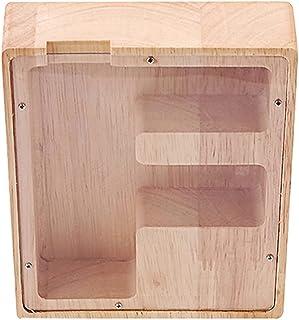 Generic Wood Piggy Bank F Shaped Coin Bank Decorative Shadow Box Money Savings Bank Keepsake Box for Adults Kids Nursery D...