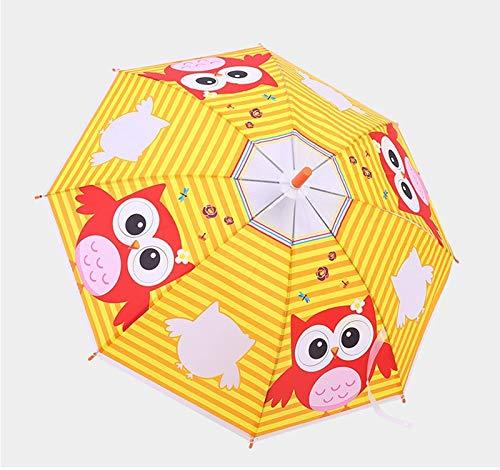 qqyz Schattig Cartoon Patroon Kinderen Paraplu Voor Meisje Jongen Kinderen Paraplu Creatieve Lange Handvat Dier Paraplu School Verjaardagscadeau