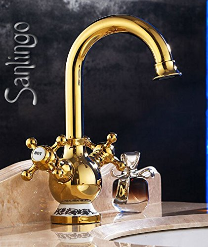 Sanlingo – Retro-Armatur, Zweigriff, schwenkbar, Gold, Serie BELE - 2