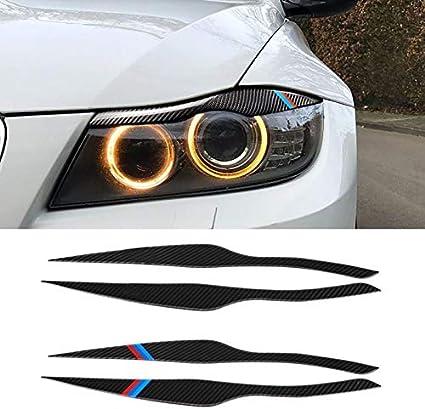Carbon Fiber Decor Headlight Eyebrows Eyelids Trim Cover Fit for BMW E90 318i 320i 325i 2005-2012 Accessories Car Light Stickers WYX-CDZS Color : Classic Styling