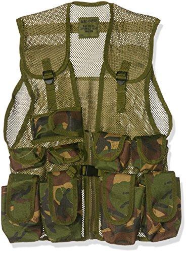 Mil-Com garçons Camouflage armée Assault Gilet - Vert - Taille Unique