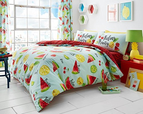 Gaveno Cavailia Tutti Fruity Luxurious Floral Duvet Covers Quilt Covers Reversible Bedding Sets with Pillowcases (Double)