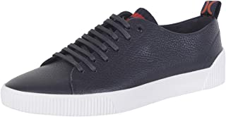 hugo boss blue leather trainers