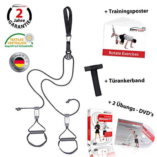 Variosling® Rotate2 Sling Trainer mit kugelgelagerter Umlenkrolle - Fitnessstudio Qualität geeignet für Dauerlasten
