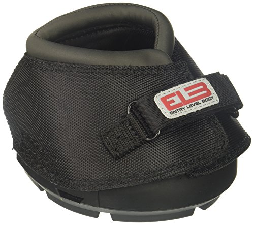 Cavallo Horse & Rider DELBR-2 ELB Regular Sole Hoof Boot, Size 2, Black